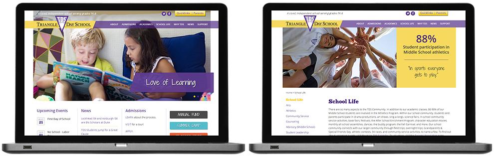 Triangle Day School web design